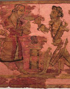 El hierofante (rey o sacerdote), que sostiene un hongo El hierofante (rey o sacerdote), que sostiene un hongo psilocybe (soma)