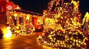 Luces de navidad que reproducen el estado embriagante de la amanita